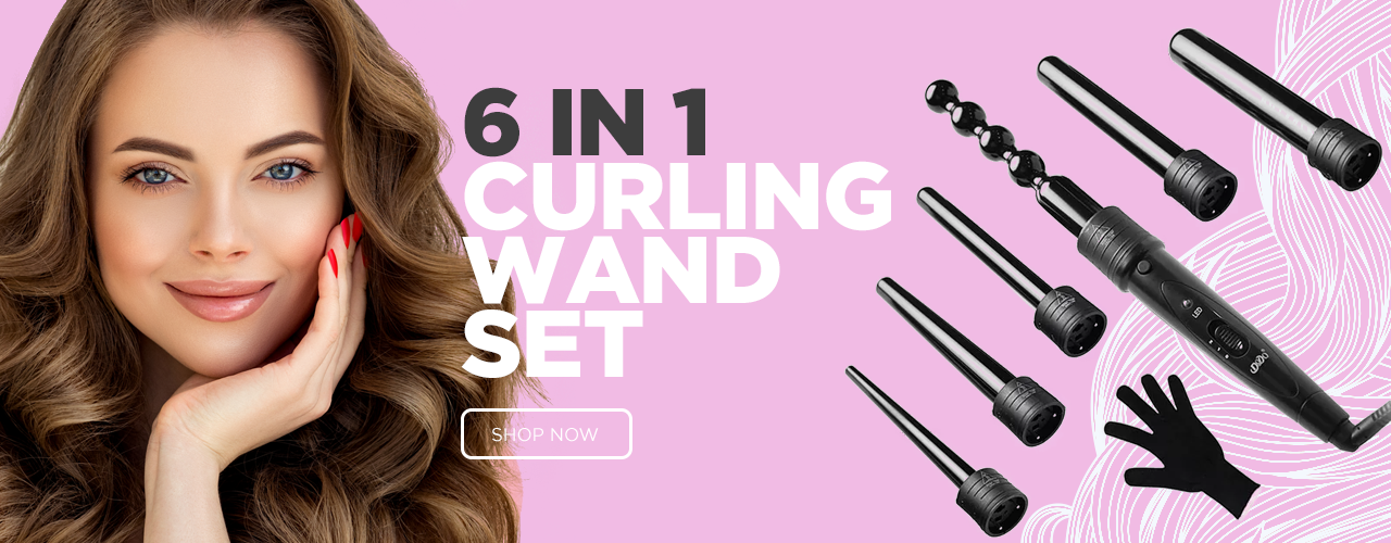 6 in 1 Curling Wand Set - Glory Glam Products